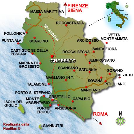 cartina geografica della maremma