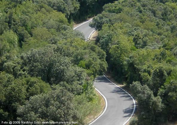 Argentario - Strada che conduce a Punta Telegrafo