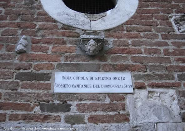 Incisione sul campanile del Duomo