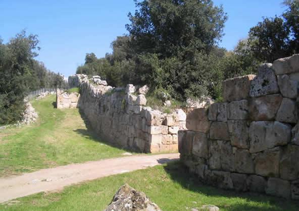 mura della citta di cosa