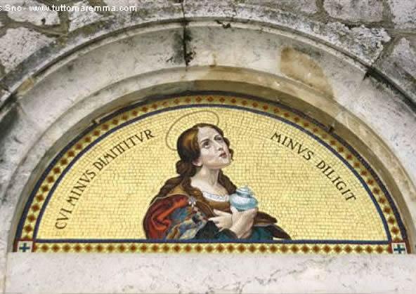 Saturnia - Mosaico sulla Chiesa di Santa Maria Maddalena