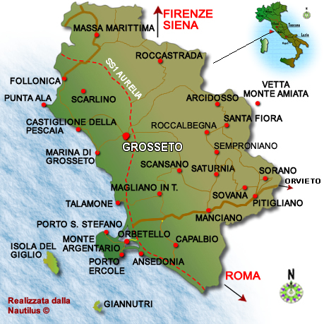 Maremma geographic map