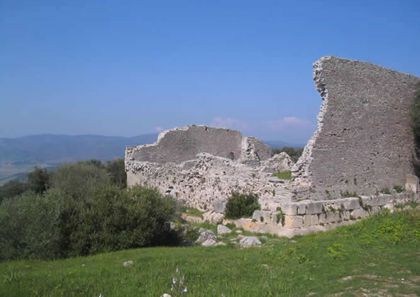 i resti delRuins of the Roman Town of Cosa