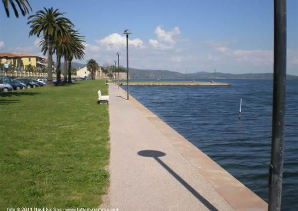 Orbetello - lake-front