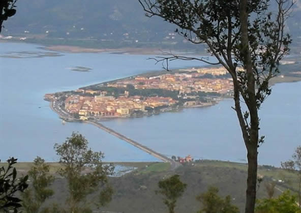 Orbetello - Vista dall'alto