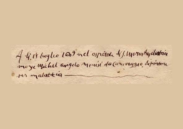 Atto di morte del Caravaggio